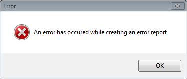 Rrror-while-creating-Error-Report